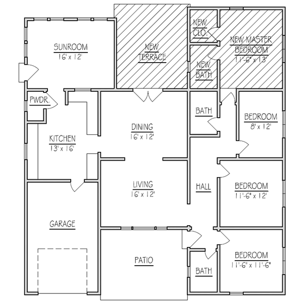 House addition plans ideas for room addition inspiration for Ranch home addition floor plans